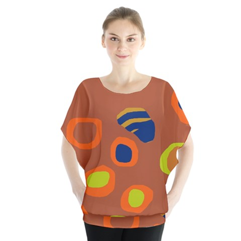 Orange Abstraction Blouse by Valentinaart
