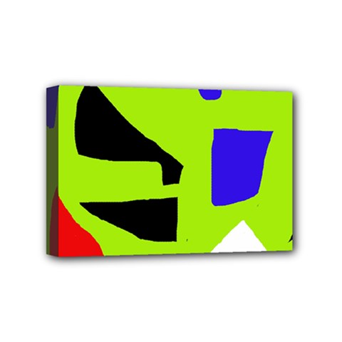 Green Abstraction Mini Canvas 6  X 4  by Valentinaart