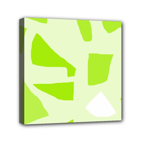 Green Abstract Design Mini Canvas 6  X 6  by Valentinaart