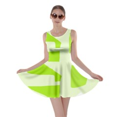 Green Abstract Design Skater Dress by Valentinaart