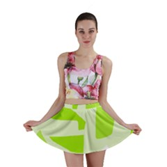 Green Abstract Design Mini Skirt by Valentinaart