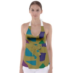 Colorful Abstraction Babydoll Tankini Top by Valentinaart