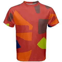 Red Abstraction Men s Cotton Tee by Valentinaart