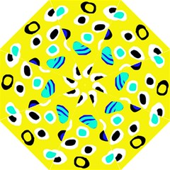 Yellow Abstract Pattern Golf Umbrellas by Valentinaart