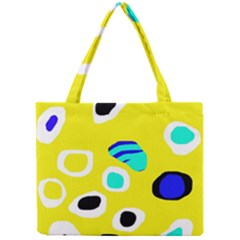 Yellow Abstract Pattern Mini Tote Bag by Valentinaart