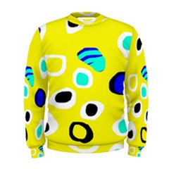 Yellow Abstract Pattern Men s Sweatshirt