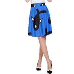 Cute Fishes A Line Skirt by Valentinaart