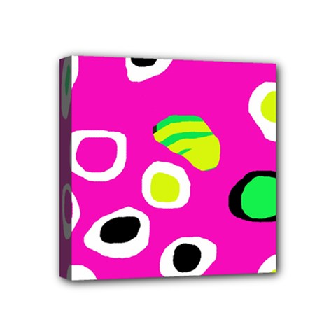Pink Abstract Pattern Mini Canvas 4  X 4  by Valentinaart