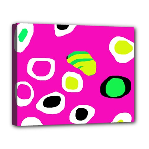 Pink Abstract Pattern Deluxe Canvas 20  X 16   by Valentinaart
