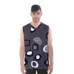 Gray Abstract Pattern Men s Basketball Tank Top by Valentinaart