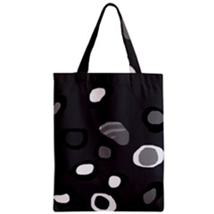 Gray Abstract Pattern Classic Tote Bag by Valentinaart
