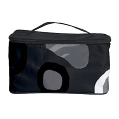 Gray Abstract Pattern Cosmetic Storage Case by Valentinaart