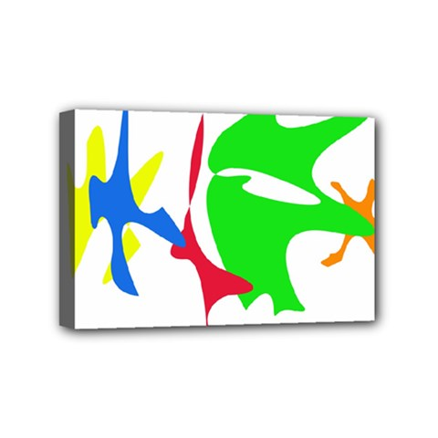 Colorful Amoeba Abstraction Mini Canvas 6  X 4  by Valentinaart