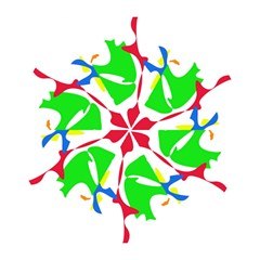 Colorful Amoeba Abstraction Mini Folding Umbrellas by Valentinaart