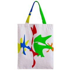 Colorful Amoeba Abstraction Zipper Classic Tote Bag by Valentinaart