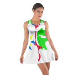 Colorful Amoeba Abstraction Cotton Racerback Dress by Valentinaart