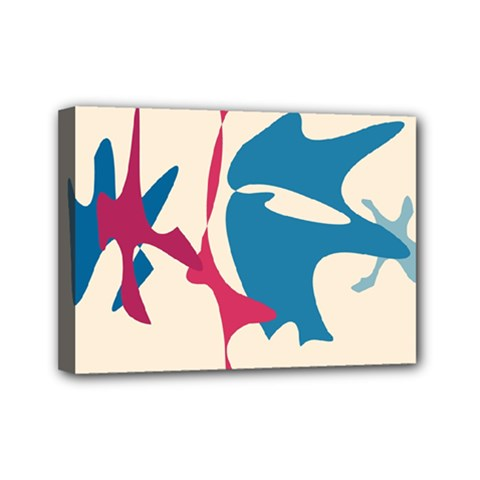 Decorative Amoeba Abstraction Mini Canvas 7  X 5  by Valentinaart