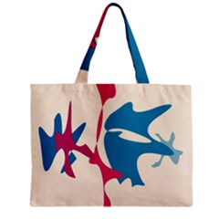 Decorative Amoeba Abstraction Zipper Mini Tote Bag by Valentinaart