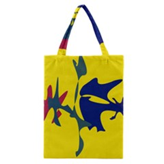 Yellow Amoeba Abstraction Classic Tote Bag by Valentinaart