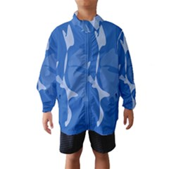 Blue Amoeba Abstraction Wind Breaker (kids) by Valentinaart