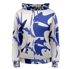 Blue Amoeba Abstract Women s Pullover Hoodie by Valentinaart