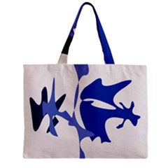 Blue Amoeba Abstract Zipper Mini Tote Bag by Valentinaart