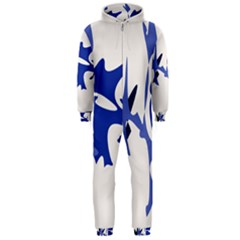 Blue Amoeba Abstract Hooded Jumpsuit (men)  by Valentinaart