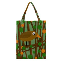 Brown Bird Classic Tote Bag by Valentinaart