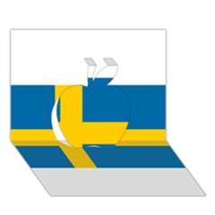 Flag Of Sweden Apple 3d Greeting Card (7x5)