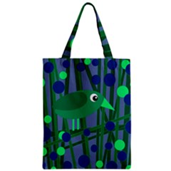 Green And Blue Bird Zipper Classic Tote Bag by Valentinaart