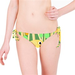 Yellow Little Bird Bikini Bottom by Valentinaart