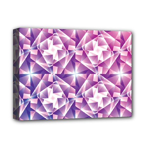 Purple Shatter Geometric Pattern Deluxe Canvas 16  X 12   by TanyaDraws