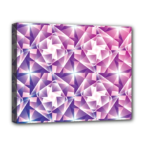 Purple Shatter Geometric Pattern Deluxe Canvas 20  X 16   by TanyaDraws