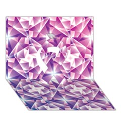 Purple Shatter Geometric Pattern Ribbon 3d Greeting Card (7x5) by TanyaDraws