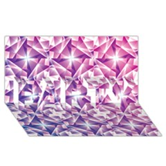 Purple Shatter Geometric Pattern Party 3d Greeting Card (8x4) by TanyaDraws