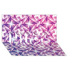 Purple Shatter Geometric Pattern Hugs 3d Greeting Card (8x4) by TanyaDraws