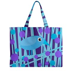 Blue And Purple Bird Zipper Mini Tote Bag by Valentinaart