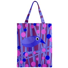 Purple And Blue Bird Classic Tote Bag by Valentinaart
