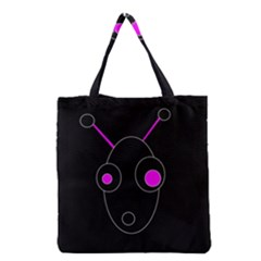 Purple Alien Grocery Tote Bag by Valentinaart