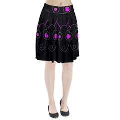 Purple Alien Pleated Skirt