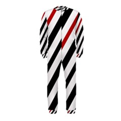 Red, Black And White Lines Onepiece Jumpsuit (kids) by Valentinaart