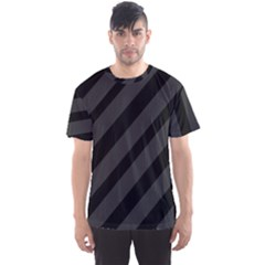 Gray And Black Lines Men s Sport Mesh Tee by Valentinaart