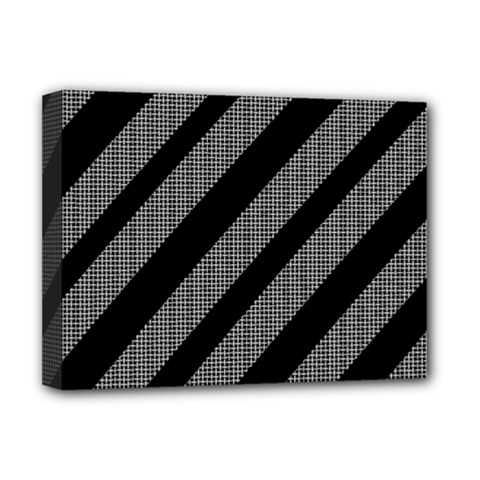 Black And Gray Lines Deluxe Canvas 16  X 12   by Valentinaart