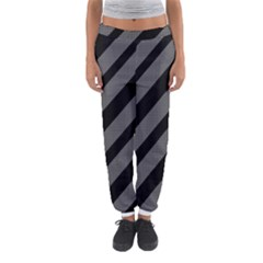 Black And Gray Lines Women s Jogger Sweatpants by Valentinaart