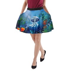 Sea A-line Pocket Skirt