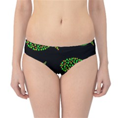 Green Fishes Pattern Hipster Bikini Bottoms by Valentinaart