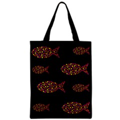 Orange Fishes Pattern Zipper Classic Tote Bag by Valentinaart