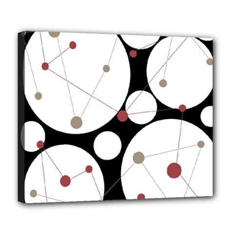 Decorative Circles Deluxe Canvas 24  X 20