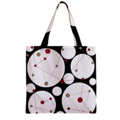 Decorative Circles Grocery Tote Bag by Valentinaart