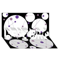 Decorative Circles   Purple Best Bro 3d Greeting Card (8x4) by Valentinaart